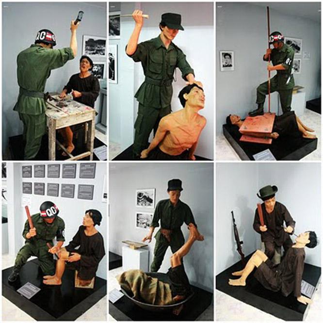 Các cảnh tra tấn trong nhà tù Phú Quốc
