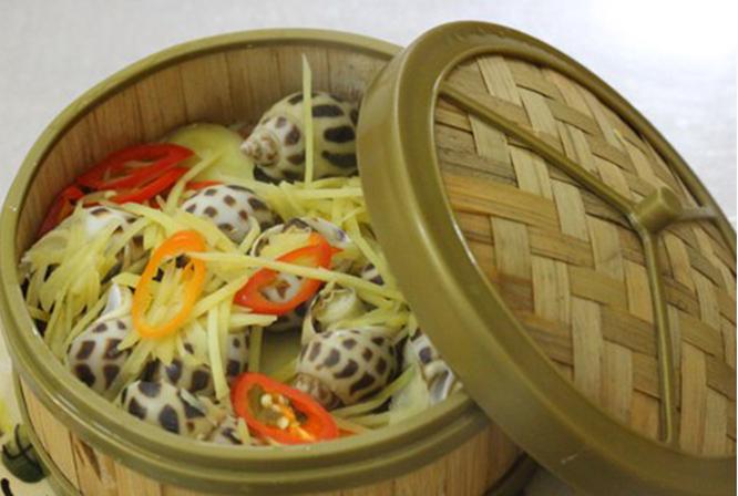 Ốc hương Phú Quốc hấp gừng