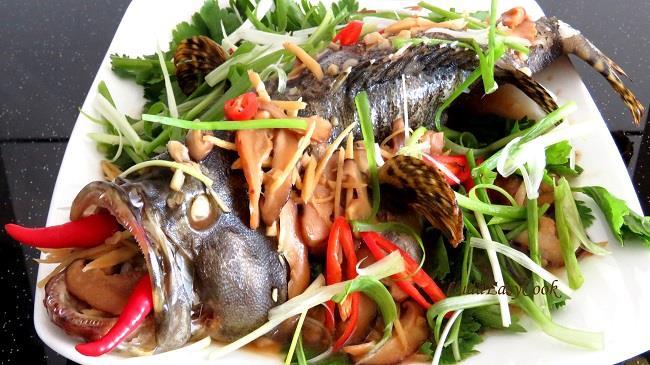 Cá bống mú hấp gừng đã để lại ấn tượng và mùi vị khó quên trong lòng mỗi du khách khi nếm thử