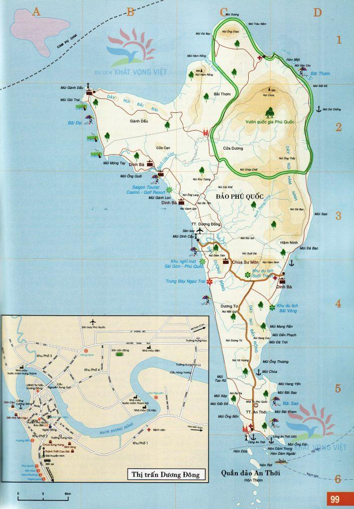 Bản đồ địa danh tại Phú Quốc