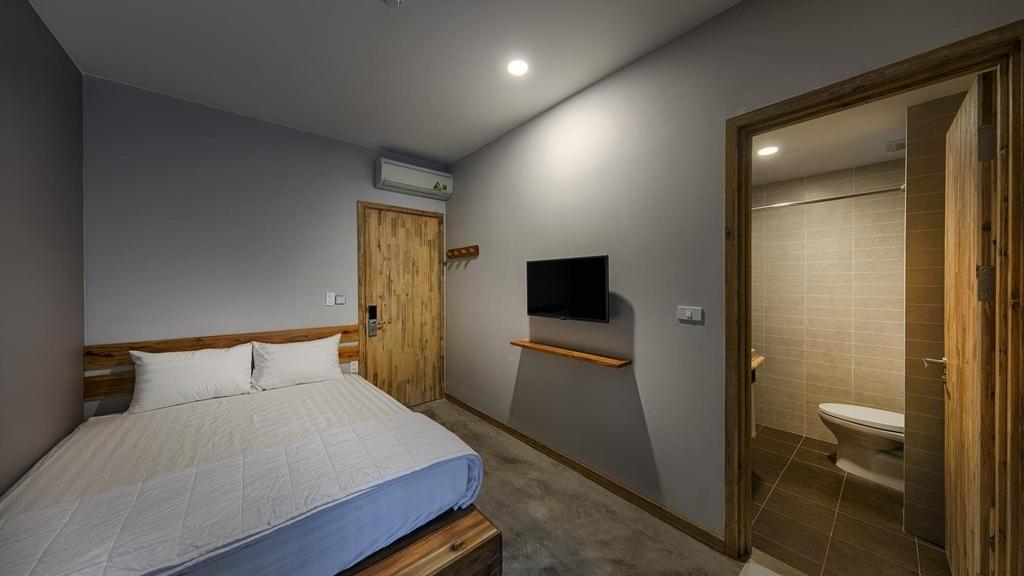 Phòng ngủ riêng tại 9Station Hostel