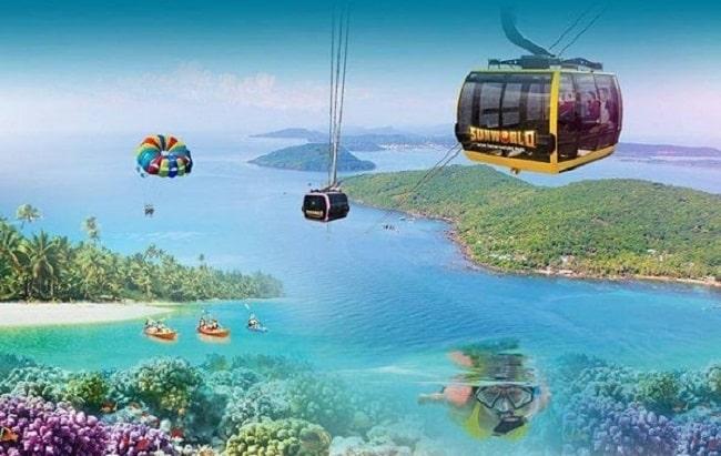 Đi cáp treo Hòn Thơm là trải nghiệm mới lạ với mọi du khách