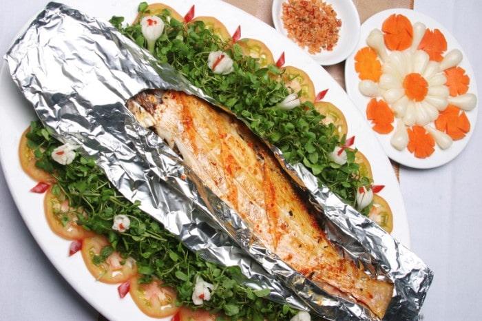 Cá mú nướng -  món ngon ẩm thực Phú Quốc với hương vị thơm ngon riêng của đảo