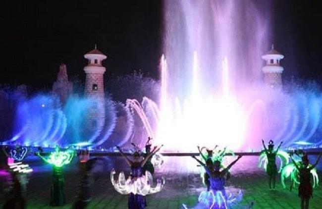 Sân khấu nhạc nước ở Vinpearl Land Phú Quốc