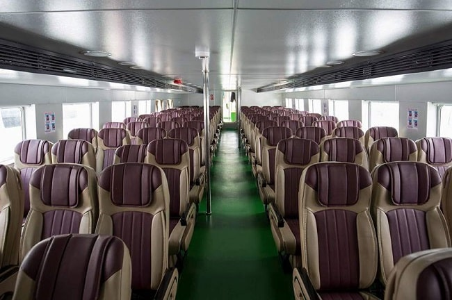 Thiết bị thoải mái tàu cao tốc Ngọc Thành – Phú Quốc